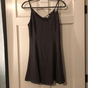 NWOT Charcoal Gray slip dress